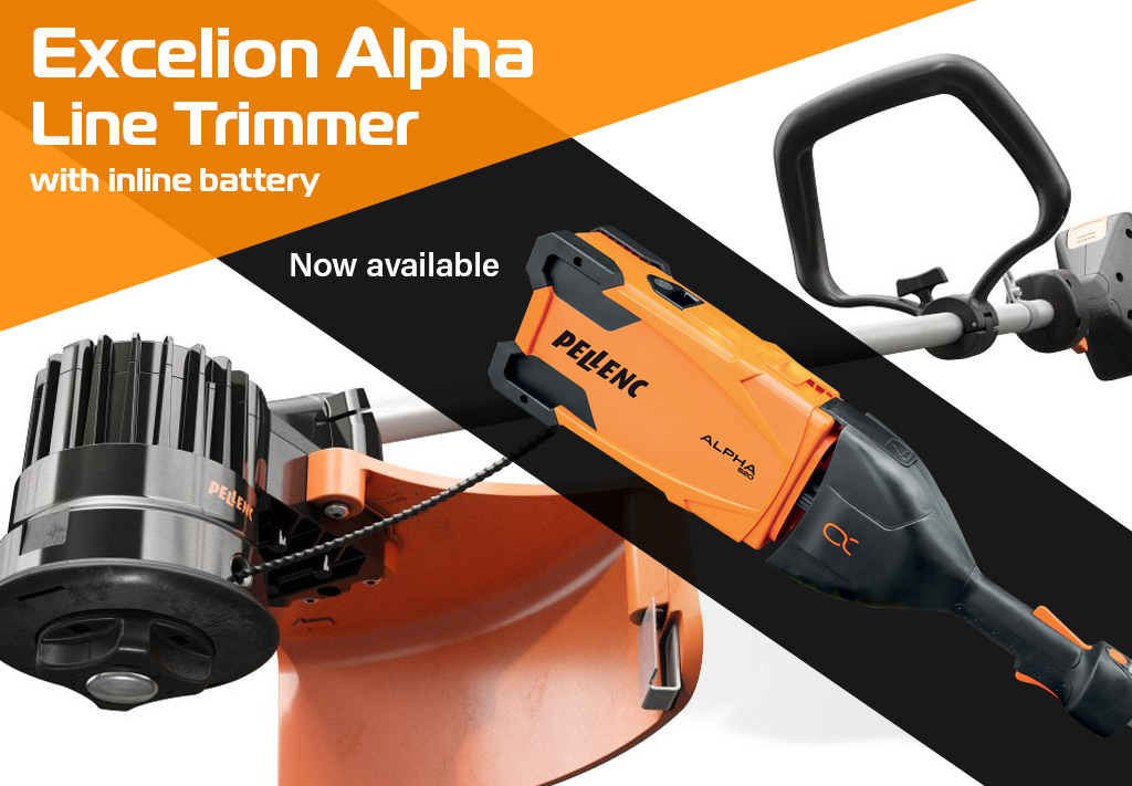 Excelion Alpha Line Trimmer with In-line Battery by Pellenc