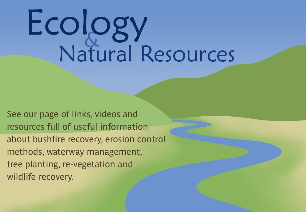 See our Ecology & Natural Resources page of useful links & videos
