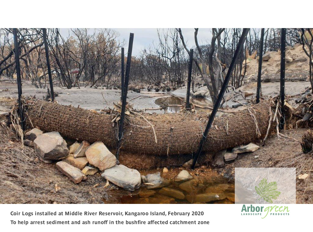 Kangaroo Island Coir Log Leaky Weir Installation | Image 1