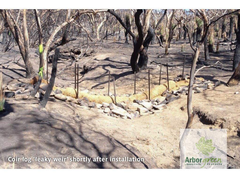 Kangaroo Island Coir Log Leaky Weir Installation | Image 2