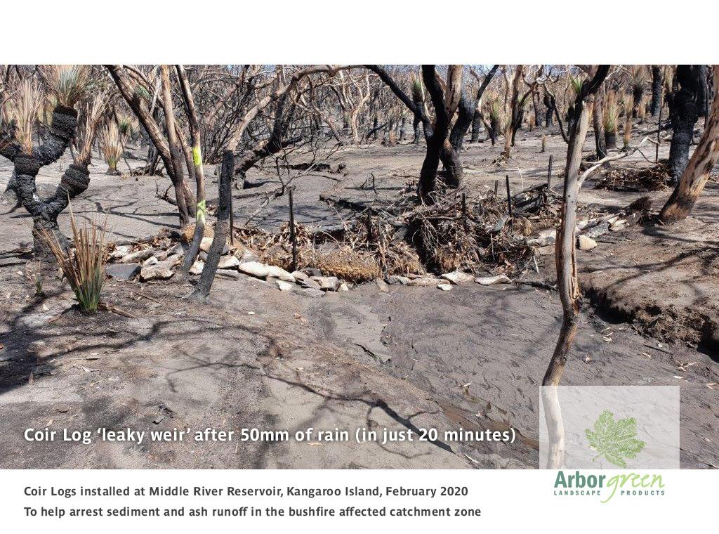 Kangaroo Island Coir Log Leaky Weir Installation | Image 3