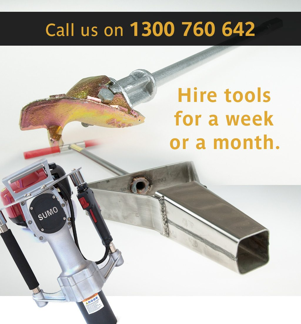 Call Us for Planting Tool Hire on 1300 760 642