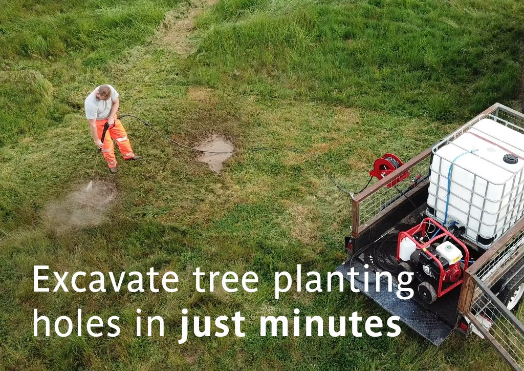 Excavate Tree Planting Holes in just Minutes