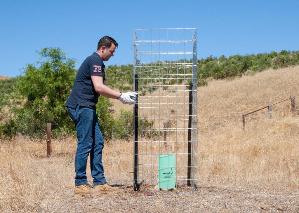 Jason Installing a Mallee Mesh Cattle Guard - November 2020