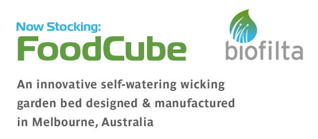 Now Stocking Foodcube self-watering wicking garden bed system